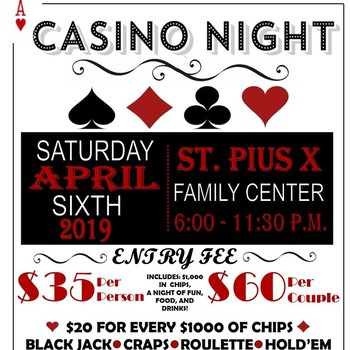 Our 2019 Gala will be a Casino Night!