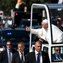 Two Rounds By Popemobile Thrill Crowd Gathered For Canonization Mass