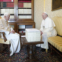 Pope Francis Meets Retired Pope Benedict, says