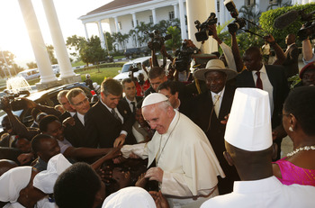 Ugandans Give Pope Exuberant Welcome As He Urges Unity