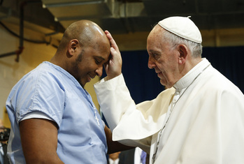 Visiting Prison, Pope Says All People Need Forgiveness, Cleansing
