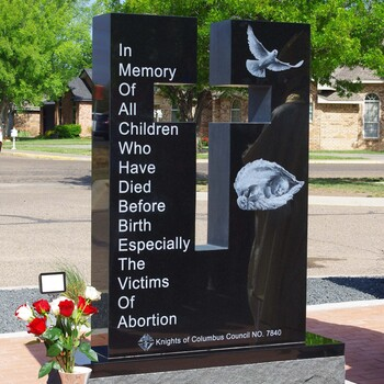A Memorial To The Unborn In Canyon