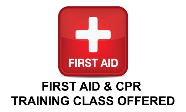 First Aid & CPR Training Class Offered