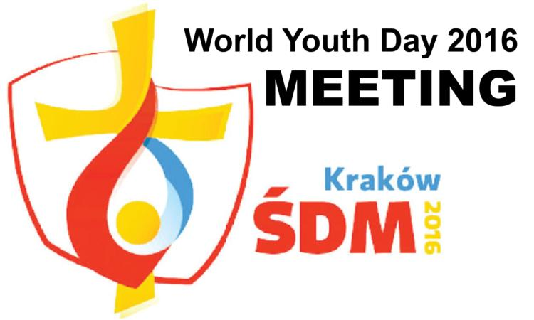 World Youth Day 2016 Information Meeting Set