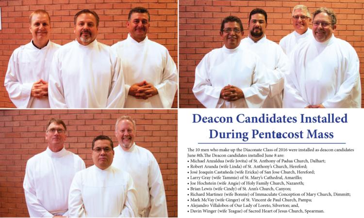 Deacon Candidates Installed During Pentecost Mass