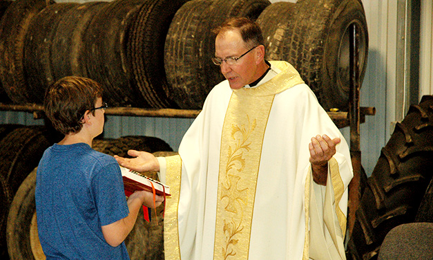 Barn Mass Celebrated at Mission Dairy