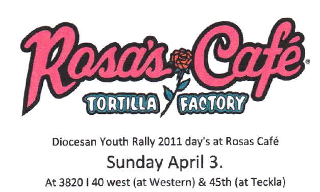 April 3 - Eat at Rosas and Support the Youth