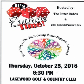 Bunco Challenge to Benefit The Multi-County Cancer Support Network