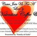 """Coffee &"" to be held Sunday, Feb 12th!"