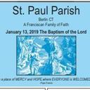 Bulletin for January 13, 2019 - The Baptism of the Lord
