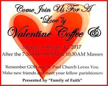 """""""Coffee &"""" to be held Sunday, Feb 12th!"""