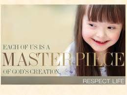 You are a Masterpiece. A message from Pope Francis on the sacredness of life...