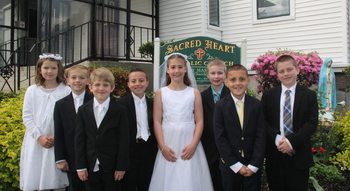First Communion Photos from Sacred Heart