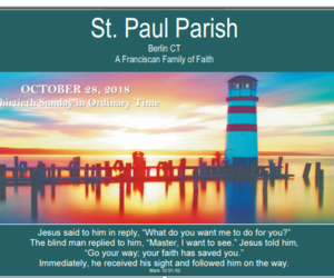 Bulletin for October 28, 2018 - 30th Sunday in Ordinary Time