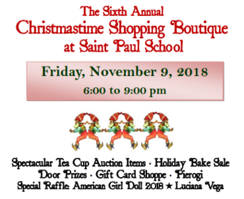 Christmastime Shopping Boutique November 9th!