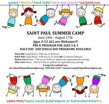 Register for Summer Camp at Saint Paul!