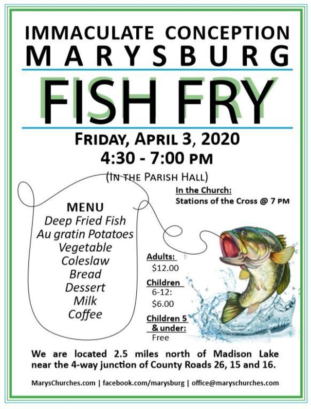 2020 Marysburg Fish Fry