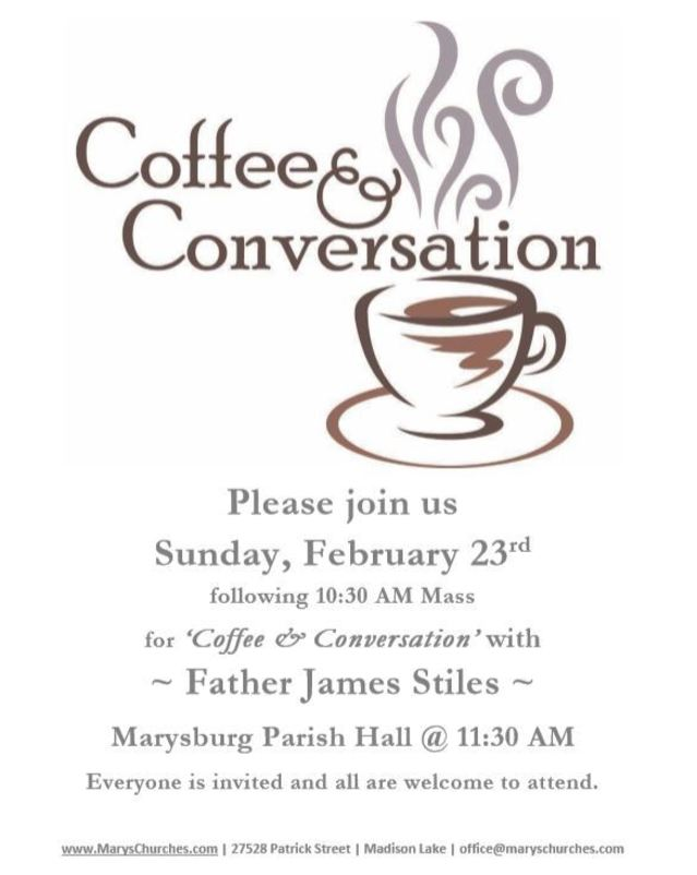 Marysburg Coffee & Conversation with Fr. Stiles
