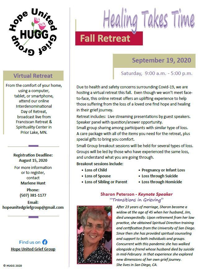 Hope United Grief Group - Retreat