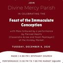 Concert for the Feast of the Immaculate Conception