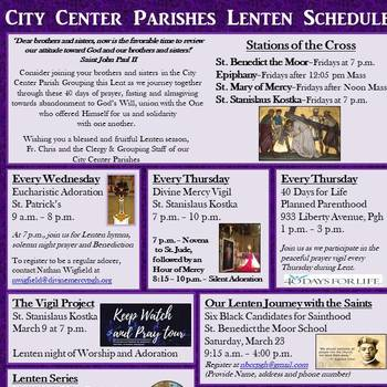 City Center Parishes Lenten Schedule