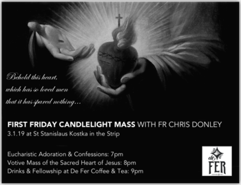 First Friday Candlelight Mass