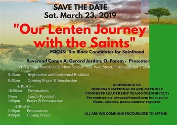 Our Lenten Journey With the Saints