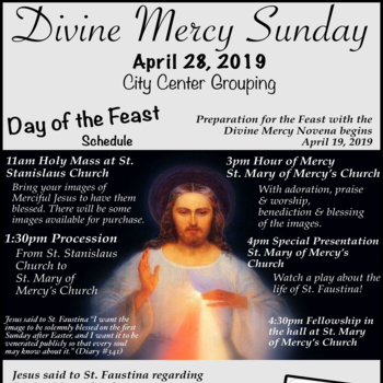 Feast of Divine Mercy - April 28, 2019