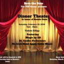 SAVE THE DATE - FEBRUARY 23, 2019 - Dinner Theater in honor of Bonnie Gunn