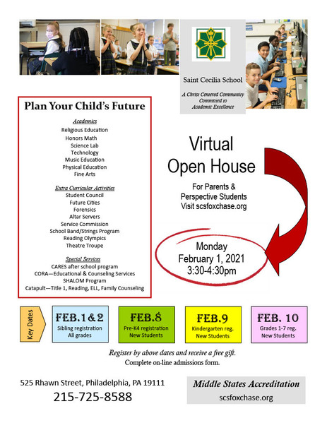 Open House and Registration Dates!