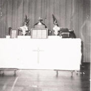 First altar at the Casa View school.