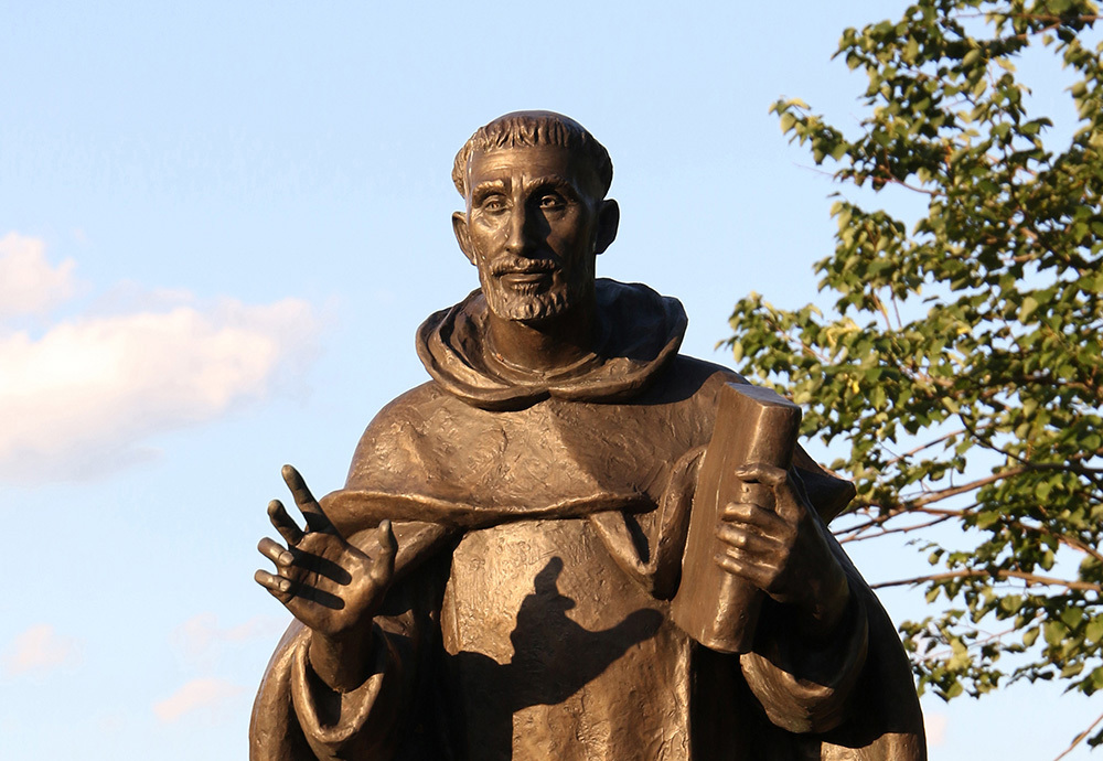 A statue of St. Dominic is seen at the motherhouse of the Sisters of St. Dominic of Amityville, N.Y. The feast of St. Dominic, founder of the Order of Preachers, is celebrated Aug. 8. (CNS photo/Gregory A. Shemitz)