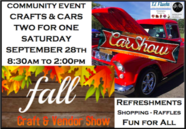 Crafts & Cars Community Event