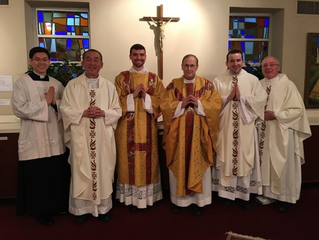 Holy Thursday Mass with St. Mary's Priests on April 9, 2020