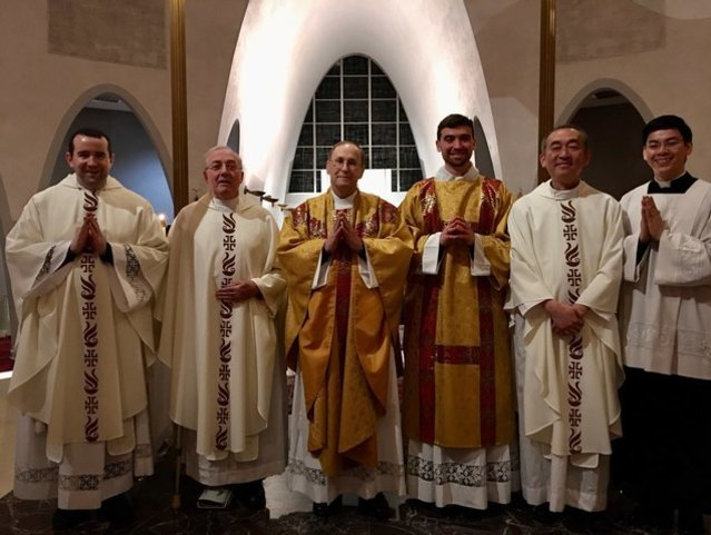 Easter Vigil Mass with St. Mary's Priests on April 11, 2020