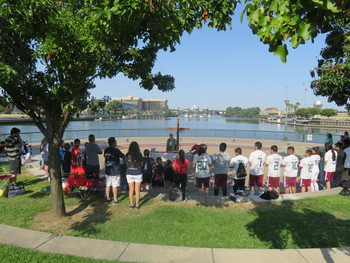 Gathering at the Park for Mass and Fellowship