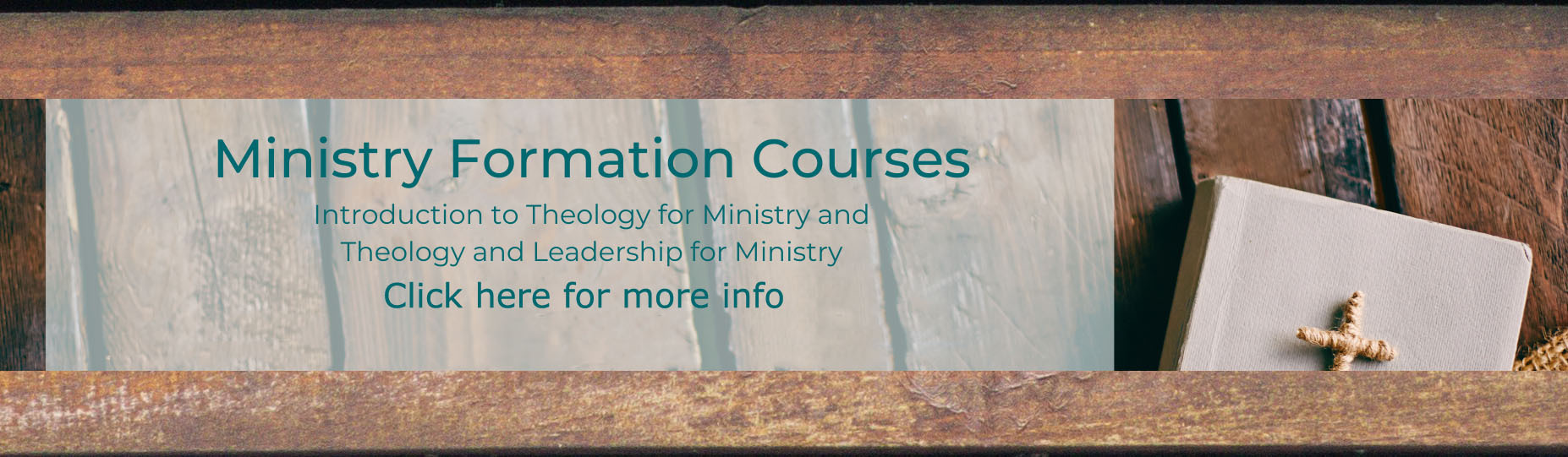 Ministry Formation Courses Click here