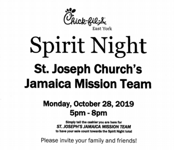 Spirit Night for 2020 JMT