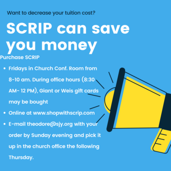 SAVE Money with SCRIP