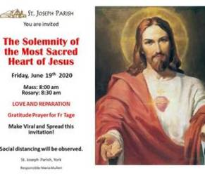 SOLEMNITY OF THE MOST SACRED HEART OF JESUS - World Day of Prayer for the Sanctification of Priests