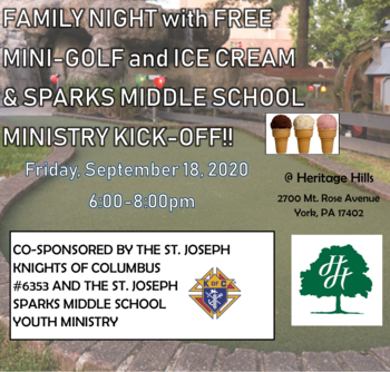 MINI-GOLF and ICE CREAM Social