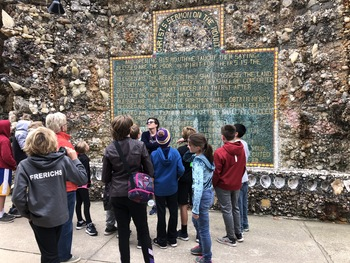 6th Grade Religious Ed Class Visits the Grotto