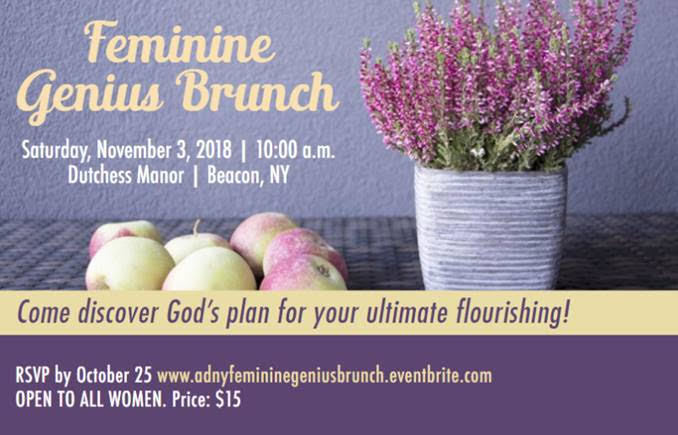 Feminine Genius Brunch - St  Augustine - New City, NY