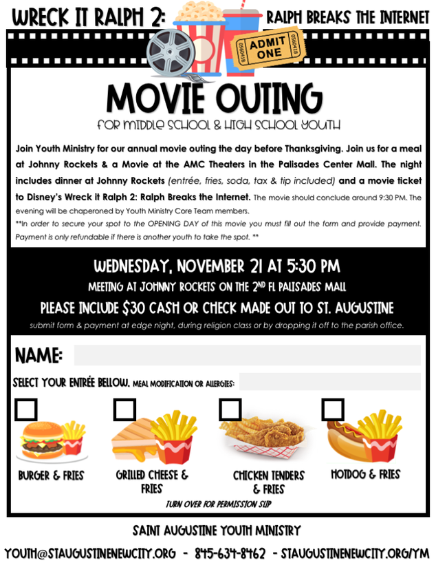 Movie Outing: Wreck-It Ralph 2 - St  Augustine - New City, NY
