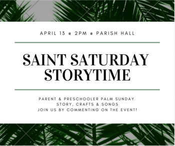 Saint Saturday Storytime - American Heritage Girls (AHG)