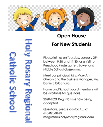 Open House 2020 flyer