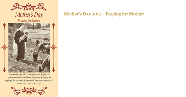 Mother's Day 2021 - Praying for Mother