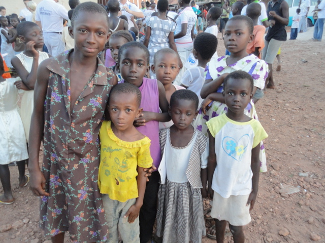 Pictures of Awaso children in the village.