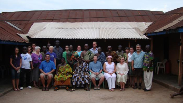 Awaso Village Chief crew blessing
