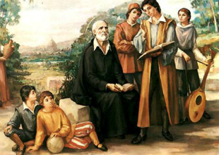 St. Philip Neri with kids